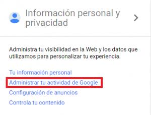 Actividad Google